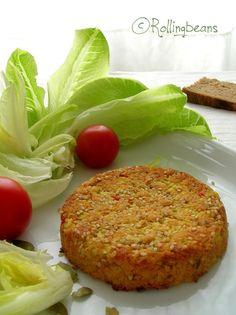 Rollingbeans: Veggie burger di ceci e cous cous (vegan)