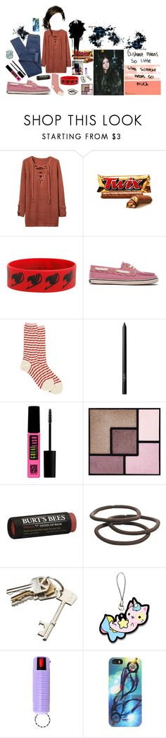 """""""Sabrina 76"""" by stockmon ❤ liked on Polyvore featuring Hot Topic, Sperry, Antipast, NARS Cosmetics, Maybelline, Yves Saint Laurent, Burt's Bees, Goody, CB2 and With Love From CA"""