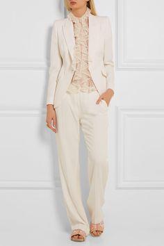 Alexander McQueen   Wool-piqué blazer   NET-A-PORTER.COM