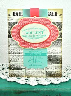 Wouldn't Do Without Card by Dawn McVey for Papertrey Ink (June 2012)