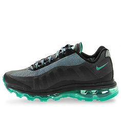 Nike Air Max 95 360 Gs Kids 512169-009 Black Green Running Shoes Youth Size 5.5
