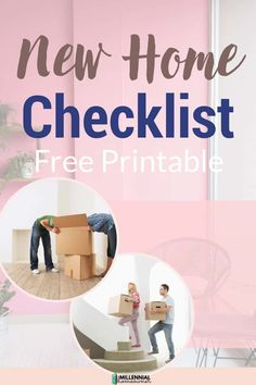 Wondering what essentials you need for your first house? Get this free first home checklist and get collecting what you need. Our first home checklist is a free printable just for you! Moving House Tips, Moving Day, Moving Tips, First Home Checklist, Moving Checklist, Household Products, Household Items, New Home Essentials, Housekeeping Tips