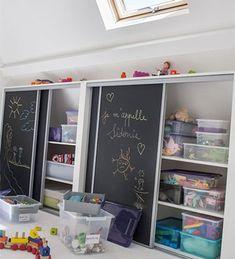 155 clever kids bedroom organization and tips ideas -page 5 Kids Bedroom Organization, Clever Kids, Painted Cupboards, Toy Rooms, Kid Spaces, Home Bedroom, Kids Furniture, Kids Room, Children Playroom