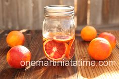 Blood Orange infused tequila