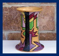 Keramik Vase - Kubismus - Art Deco - datiert 1933  (# 2026)