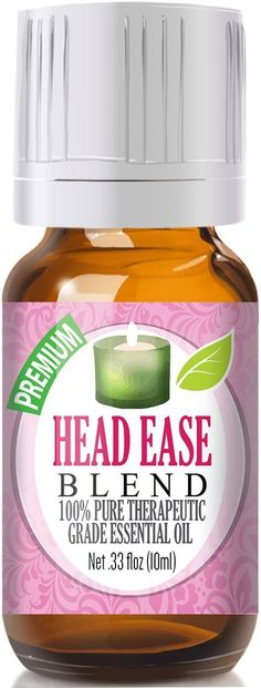 Head Ease Blend 100% Pure, Best Therapeutic Grade Essential Oil - 10ml - Comparable to DoTerra's PastTense and Young Living's M-Grain Blend - French Lavender, Peppermint, Wintergreen, Basil, Frankincense, Rosemary, Sweet Marjoram, Sweet Orange *** See this awesome image  : basil essential oil