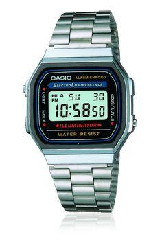 Casio Vintage Metal Digital Watch Silver