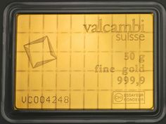 the Valcambi Gold CombiBar Card