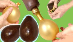 How to make a homemade chocolate egg with a balloon - can be as big as you want it to be
