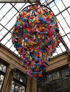 New Origami Crane Lamp Paper Ideas Origami Lamp, Origami Paper Art, Paper Crafts, Origami Cranes, Hanging Origami, Origami Swan, Foam Crafts, Origami Installation, Oragami