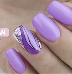 20 dessins de grands ongles de printemps 2019 You are in the right place about spring nails colors Here we offer you the most beautiful pictures about the spr Purple Nail Art, Purple Nail Designs, Nail Designs Spring, Fancy Nails, Cute Nails, Pretty Nails, Fingernail Designs, Gel Nail Designs, Spring Nail Art
