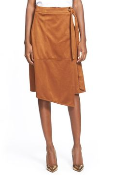 Glamorous Faux Suede Wrap Skirt