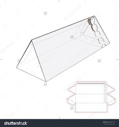Triangular Tube Box With Zipper Seal And Die Cut Template Stock Vector Illustration 250091182 : Shutterstock