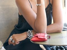 #PANDORAloves this edgy PANDORA ESSENCE COLLECTION bracelet styling by blogger Karen Blanchard from @karenbritchick