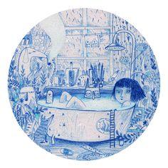 blue bath by LUK