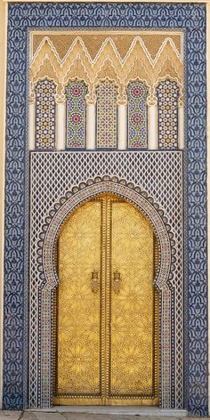 "salmaserendipity: "" Door to Kings palace, Fez, Morocco """