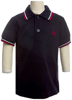 43f8eff8a5f FRED PERRY TWIN TIPPED KIDS POLO NAVY/WHITE - Get your lil bruiser in gear