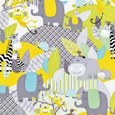 Safari Playground Baby Jungle by Kanvas por spiceberrycottage