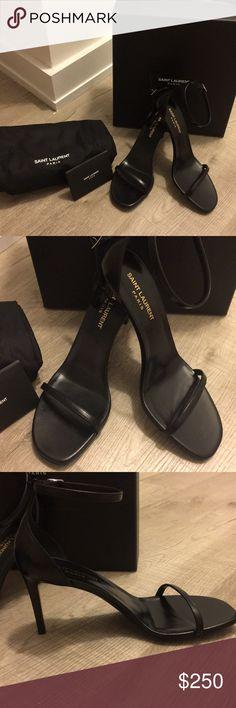 3ecc7f5d10a8 Saint Laurent Black Nero Jane Black sandal Brand new with tags