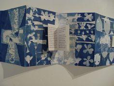 Cahier de verdure, Carole Penin, cyanotypes Book art, livre d artiste