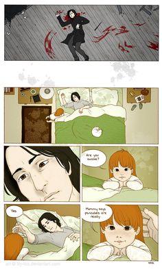 Severus Snape wakes up. this hurt my heart.