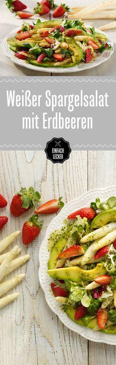 Da haben wir den Salat! Heute mal mit Spargel und Erdbeere. #spargelmiterdbeere