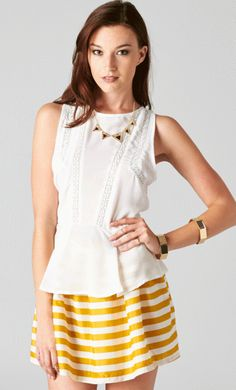 ADDITIONAL 30 % OFF ALL SALE ITEMS!!! #publik #shoppublik #open #back #peplum #top #lace #white #yellow #white #striped #skater #skirt #chic #cute #hot #classy #trendy #sexy #fashionista #fashionfeen #fashionforward #fashiontrend #fashionstyle #fallfashion #outfitinspiration #ootd #streetstyle #sale