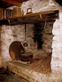 Fireplace/kitchen in Grødaland museum, Jæren, Rogaland, Norway by Tone Lepsøe.