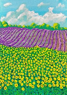 Lavender Farm In Provence France 17 ARTIST TRADING by MikeKrausArt