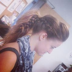 Braided poof updo