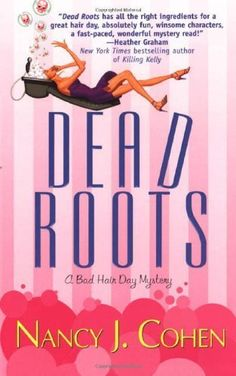 Dead Roots (Bad Hair Day Mysteries) by Nancy J. Cohen, http://www.amazon.com/dp/B001E52S7I/ref=cm_sw_r_pi_dp_9XJnrb0NZ9H3A