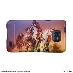 Native American Galaxy SII Cover #NativeAmerican #Indian #Horse #Historical #Art #Mobile #Phone #Cover #Case #Samsung