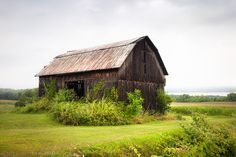 Old Barn on Seneca Lake, Rustic Landscape Barn Photograph, Barns, Farms, Rural, Signed, Free Shipping