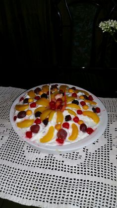 Tres leches with fruits