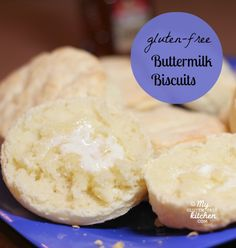 Gluten-free Buttermilk Biscuits - These taste like the real deal! Family favorite recipe, perfect with butter and honey!