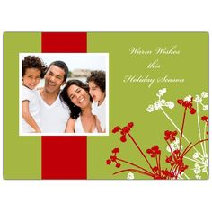 Berry Clusters Holiday Photo Cards