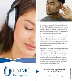 UMMC Hearing Care, two-sided panel card. (Aug. 2014) http://ummchealth.com