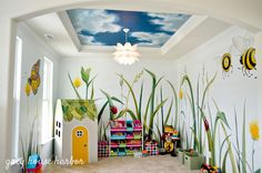 Below are the Playroom Mural Design Ideas For Kids. This post about Playroom Mural Design Ideas For Kids was posted … Playroom Mural, Kids Room Murals, Murals For Kids, Playroom Design, Kids Room Design, Playroom Ideas, Gray Playroom, Small Playroom, Nursery Ideas