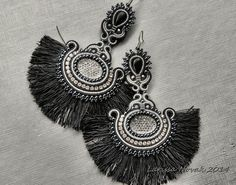 https://flic.kr/p/of9wNp | Long Soutache Earrings