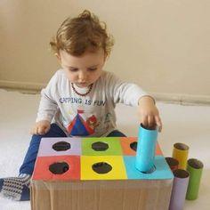 Motor Skills Activities, Preschool Learning Activities, Baby Learning, Infant Activities, Preschool Activities, Baby Sensory Play, Baby Play, Toddler Play, Montessori Toys