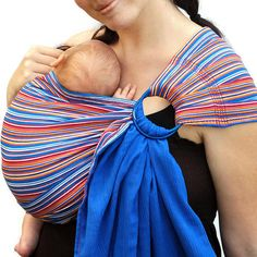 Ring Sling Baby Carrier Gauze Doublelayer Striped & by BabyEtte