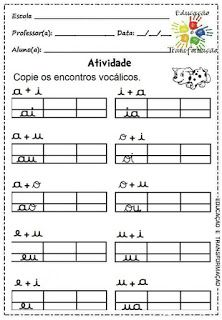 Atividades para Jardim: Vogais e encontros vocálicos Teaching, Monet, Atv, Infant Activities, Letter E Activities, Preschool Classroom, Preschool Alphabet Activities, Preschool Writing, Cursive Letters