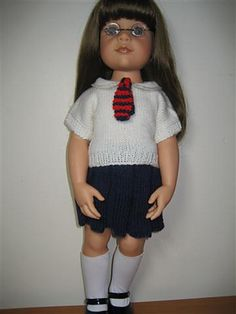 Ravelry: AMERICAN GIRL DOLL FREE T-SHIRT PATTERN pattern by Jacqueline Gibb