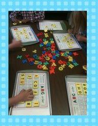 Cookie sheet work.  A Differentiated Kindergarten