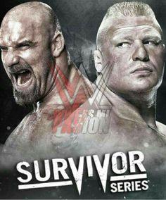 Survivor Series Goldberg vs Brock Lesnar