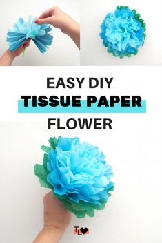 Beautiful DIY tissue paper flowers - Tiger Lily Loves - - Want beautiful flowers for your room, a flower crown or boquet? Then check out this tutorial for making your own tissue paper flowers! Paper Mache Flowers, Tissue Paper Flowers Easy, Mexican Paper Flowers, Paper Flowers For Kids, Tissue Paper Crafts, Paper Flower Tutorial, Giant Paper Flowers, Diy Flowers, Paper Wall Flowers Diy