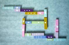 jeu de dominos pinces à linge