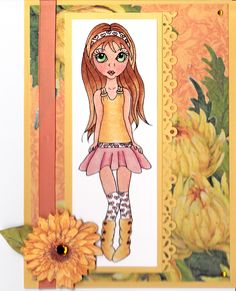Cuddlebug Cuties: Abby Free Digital Stamp