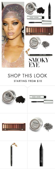 """""""smokey eye Rihanna style"""" by im-karla-with-a-k ❤ liked on Polyvore featuring Bobbi Brown Cosmetics, Urban Decay and NYX"""