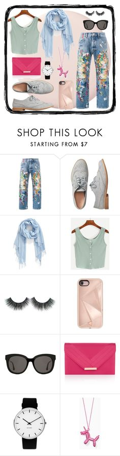 """""""distressed jeans contest look"""" by alexmhirst ❤ liked on Polyvore featuring Palm Angels, Gap, Nordstrom, Rebecca Minkoff, Gentle Monster, Accessorize, Rosendahl and Kate Spade"""